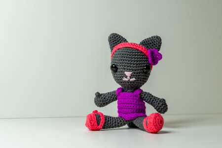 Amigurumi Cat selfmade out of Wool