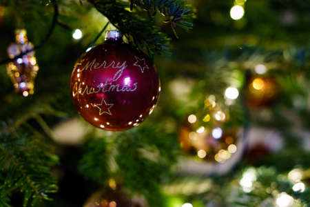 Christmas and Christmas Tree Decoration 写真素材 - 167229255