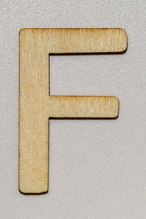 letters with wood grain 写真素材 - 167229271