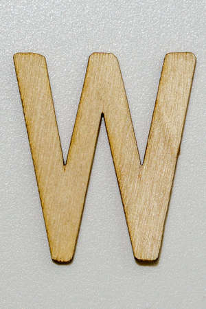 letters with wood grain