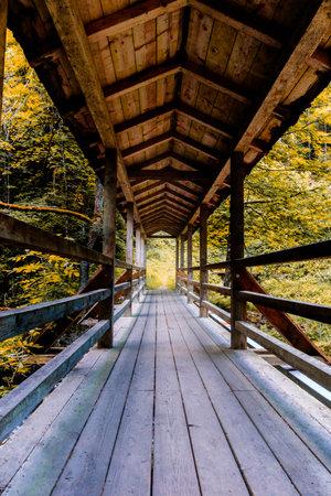A wooden bridge