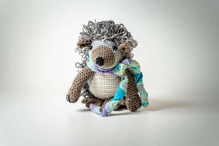 Amigurumi Hedgehog out of Wool Bavaria Stock Photo