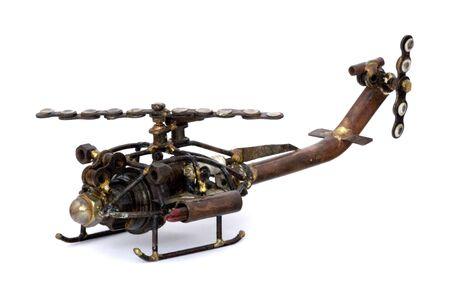 Chatarra modelo de helic�ptero Foto de archivo - 721685