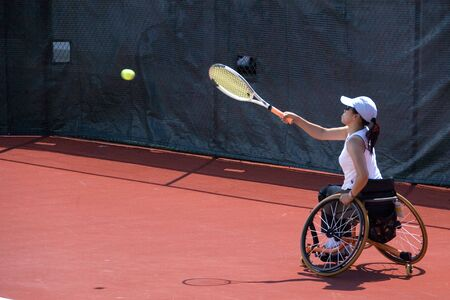 training wheels: Wheel Chair Tennis for Disabled Persons (Women)