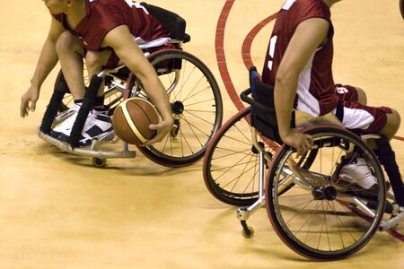 Wheel Chair Basketball for Disabled Persons (Men) Stock Photo - 721205