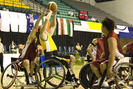 paraplegic: Rolstoel Basketbal voor personen met een handicap (Mannen)