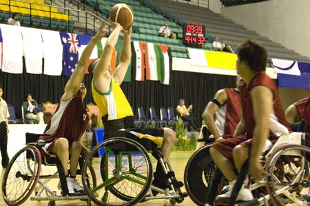 disabled sports: Wheel Chair Basketball for Disabled Persons (Men)