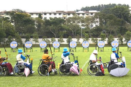disabled sports: Archery for Disabled Persons