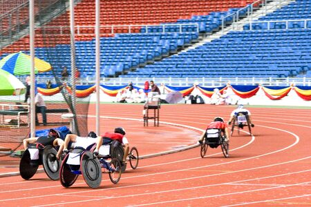 Wheel Chair Race Stock Photo