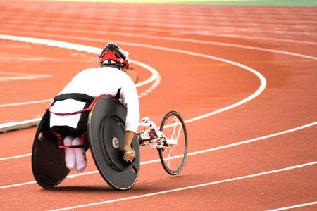Wheel Chair Race Stock Photo - 721266