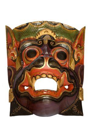 artefact: Wooden Dayak Mask Stock Photo