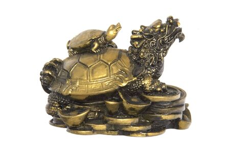 lucky charm: Chinese Brass Tortoise Lucky Charm