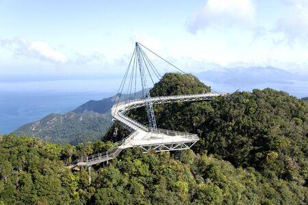 Curved Suspension Bridge