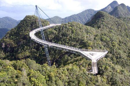 langkawi island: Curved Suspension Bridge