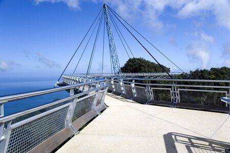 pedestrian bridge: Curved Suspension Bridge