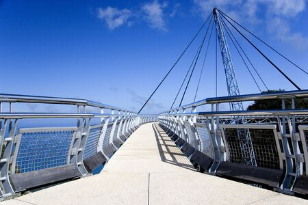 Curved Suspension Bridge photo