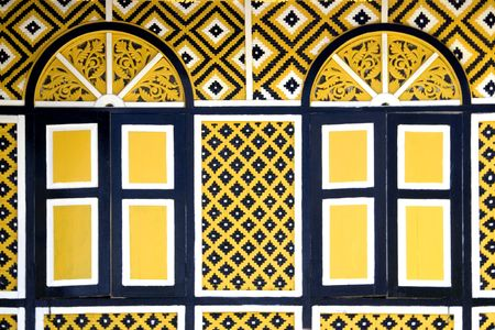 Windows of the Perak Sultans Old Palace photo
