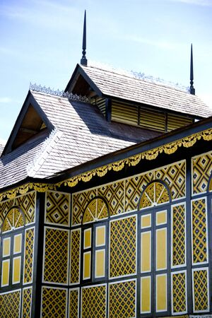 The Ancient Wooden Palace of the Sultan of Perak Stock Photo - 778284
