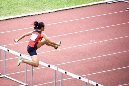 Femmes 100 m Haies  Banque d'images