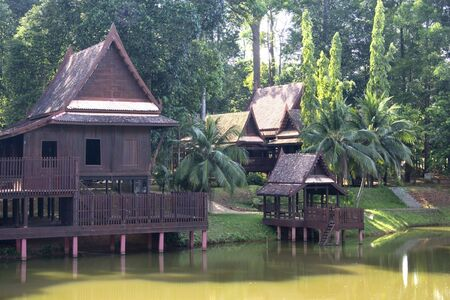 malay village: Casa tradicional de Tailandia