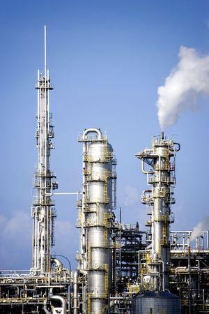 smokestacks: Oil Refinery Stock Photo