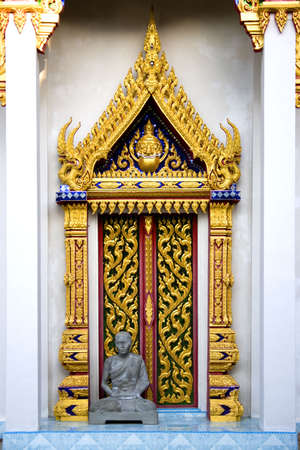 Thai Buddhist Temple Door Stock Photo - 871713