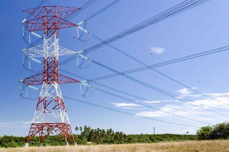 pylon: Electricity Pylon Stock Photo