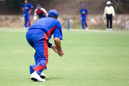 bowl game: Cricket Game Stock Photo