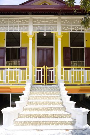 stilt house: Traditional Malay House Stock Photo