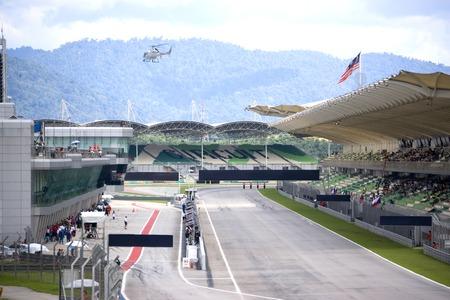 grandstand: Grand Prix Race Track Stock Photo
