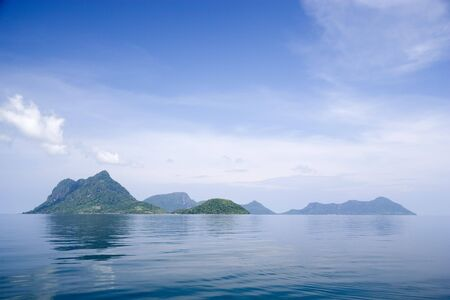 Image of remote Malaysian tropical islands that were formerly the rim of a volcano, now extinct. Stock Photo - 2816391