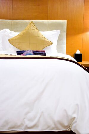 Image of a comfortable looking hotel bed. Stock Photo - 2816392