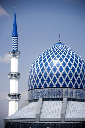 alam: Sultan Salahuddin Abdul Aziz Shah Mosque or commonly known as the Blue Mosque, located at Shah Alam, Selangor, Malaysia.