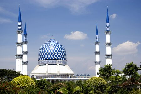 shah: Sultan Salahuddin Abdul Aziz Shah Mosque or commonly known as the Blue Mosque, located at Shah Alam, Selangor, Malaysia.