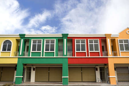Image of a row of new colouful shop houses. Stock Photo - 2902901