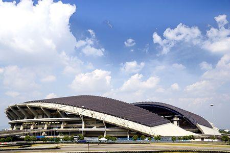 shah: Image of a football stadium at Shah Alam, Selangor, Malaysia. Stock Photo