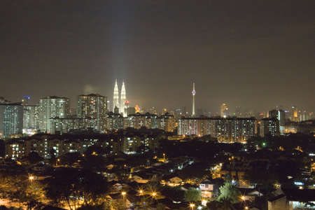 Image of Kuala Lumpur skyline at night. Stock Photo - 2902933