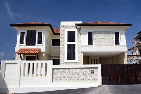 realty residence: Image of brand new real estate for sale in Malaysia. Stock Photo