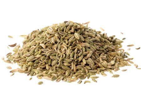 finocchio: Isolata macro immagine di semi di finocchio.