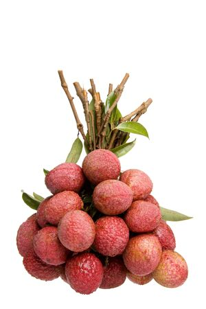 lychees: Isolated image of China lychees. Stock Photo