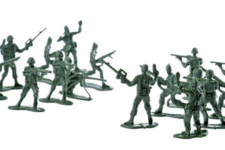 batallón: Aislado imagen de los soldados de juguete.