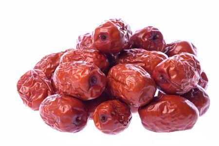 legumbres secas: Aisladas macro imagen de color rojo chino fechas.