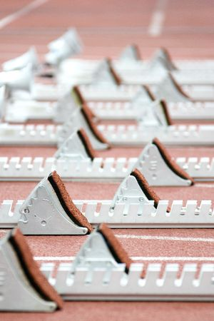 starting blocks: Image of starting blocks for athletes.