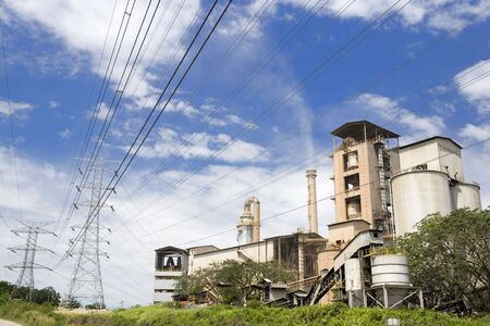 cement chimney: Image of a cement factory in Malaysia.