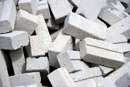 meant: Image of cement bricks meant for construction.