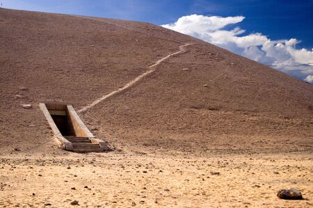 majesty: Image of the entrance to a tomb in the Valley of the Kings, Egypt.  Stock Photo