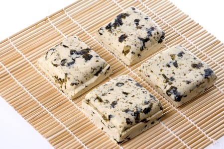 beancurd: Isolated image of seaweed organic beancurd or commonly known as seaweed tofu.
