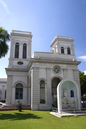 Church of The Assumption, built around 1860 and still being used today at the UNESCO World Heritage site of Georgetown, Penang, Malaysia. photo