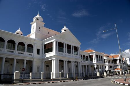 Old courthouse building located at UNESCOs World Heritage site of Georgetown, Penang, Malaysia.