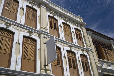 Old building located at UNESCOs World Heritage site of Georgetown, Penang, Malaysia. photo